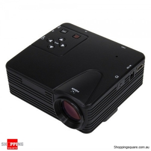 H80 Portable LED Projector Video Home Theater 640x480 Pixels Supports FHD 1080P