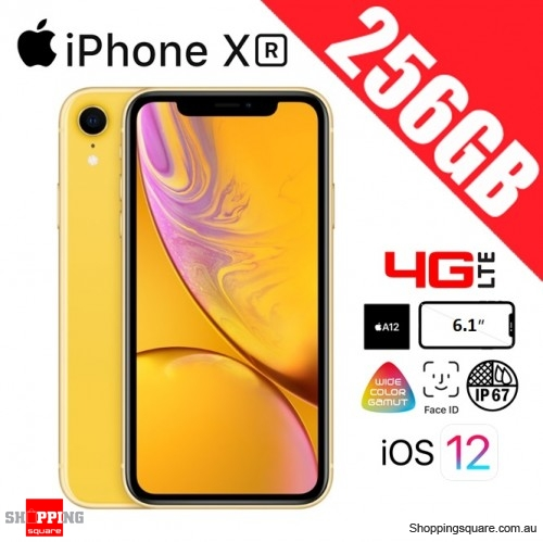 Apple iPhone XR 256GB 4G LTE Unlocked Smart Phone Yellow