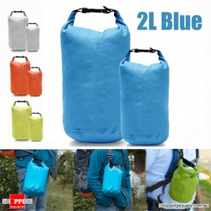 2L Waterproof Dry Bag Pouch Drift Swim Rafting Storage Pack for Camping Travelling - Blue