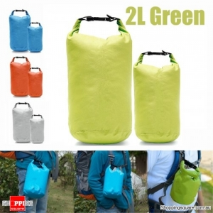 2L Waterproof Dry Bag Pouch Drift Swim Rafting Storage Pack for Camping Travelling - Green