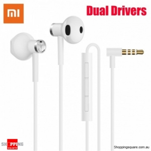 Xiaomi Dual Drivers Dynamic Driver+Ceramics Driver Shallow In-ear Earphone Line Control With Mic - White