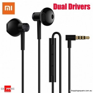 Xiaomi Dual Drivers Dynamic Driver+Ceramics Driver Shallow In-ear Earphone Line Control With Mic - Black