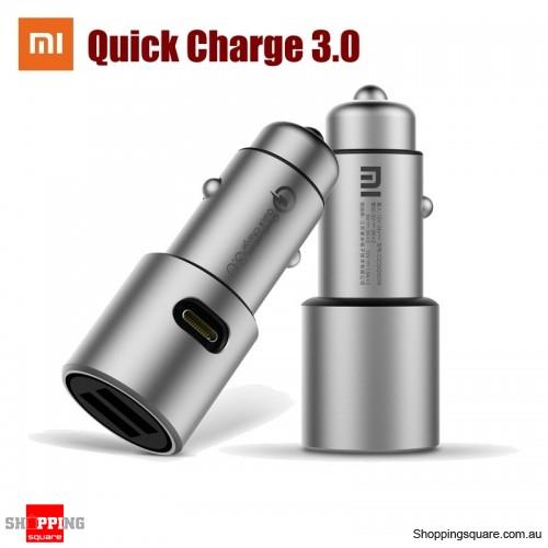 Xiaomi QC3.0 Dual USB Smart Control Quick Charge Car Charger Grey