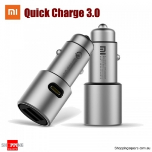 Xiaomi QC3.0 Dual USB Smart Control Quick Charge Car Charger Grey