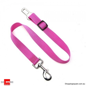 Adjustable Pet Dog Safety Car Vehicle Seat Belt Harness Lead Pet Seatbelt Nylon - Purple