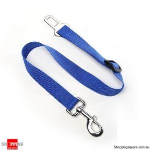 Adjustable Pet Dog Safety Car Vehicle Seat Belt Harness Lead Pet Seatbelt Nylon - Blue