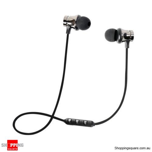 XT-11 Bluetooth Magnetic Headphones Mic - Black Colour