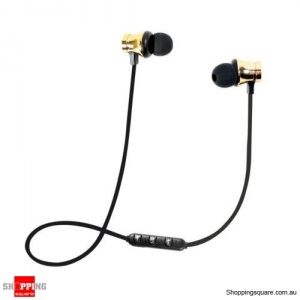 XT-11 Bluetooth Magnetic Headphones Mic - Gold Colour