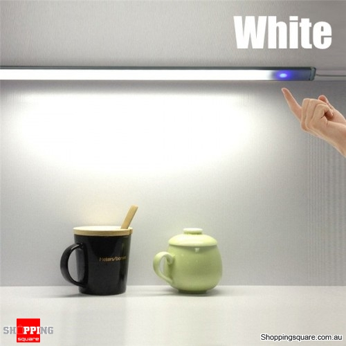 30cm 6W USB Touch Sensor Dimmable LED Bar Lamp For Bedroom Cabinet DC 5V - White