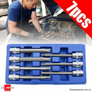 3/8 Inch 7Pcs M4-M10 Twelve Angle Socket Metric Extre Long Allen Bit Socket Screwdriver Bit Set