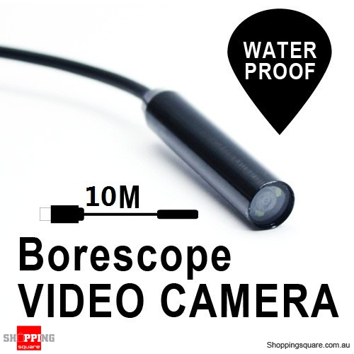 10m USB Borescope Endoscope Waterproof Inspection Tube Video Camera