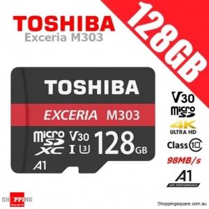 Toshiba Exceria 128GB micro SD SDXC Memory Card UHS-I U3 V30 A1 4K Ultra HD 98MB/s