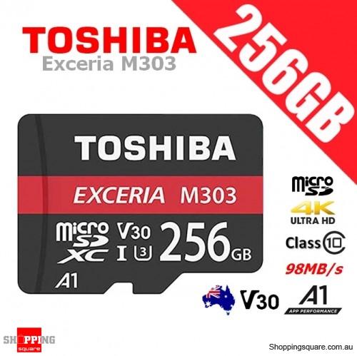 Toshiba Exceria 256GB micro SD SDXC Memory Card UHS-I U3 V30 A1 4K Ultra HD 98MB/s