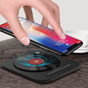 Ultra-Thin Folding 7.5W/10W Qi Wireless Charging Pad Phone Stand for iPhone XR XS Samsung Note 9 S9
