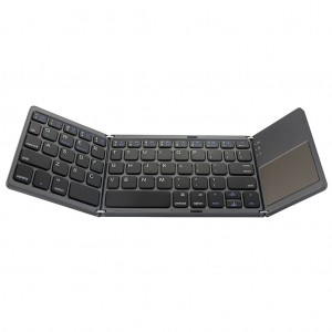 Foldable Wireless Bluetooth Keyboard with Touchpad for iOS/Android/Windows Black Colour