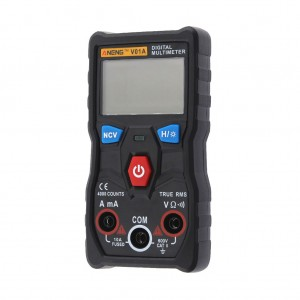 ANENG V01A Digital True RMS Multimeter Tester with LCD Backlight and Flashlight Black Colour