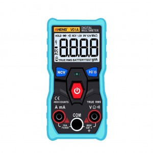 ANENG V01A Digital True RMS Multimeter Tester with LCD Backlight and Flashlight Blue Colour