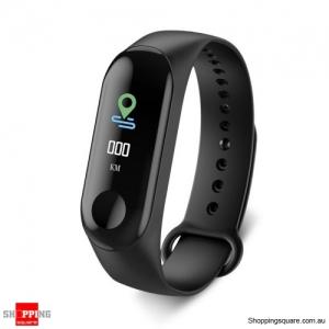 M3C 0.96 inch IP68 Waterproof Bluetooth 4.0 Smart Fitness Bracelet Smartwatch - Black