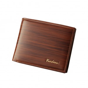 Casual PU Leather Card Holder Wallet for Men Coffee Colour