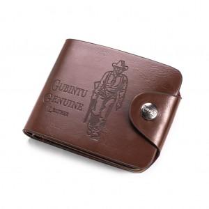 Vintage 3-Fold Casual PU Card Holder Wallet for Men