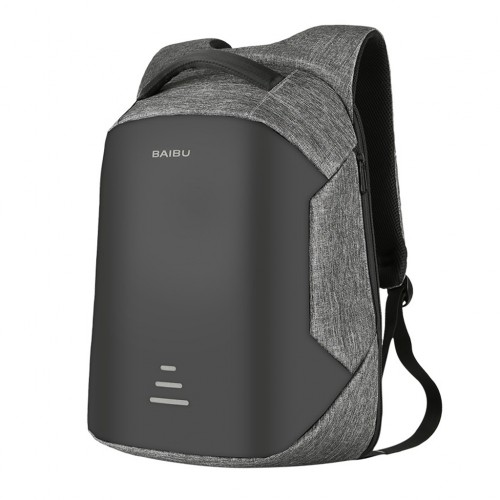 dfcdbc1fc1eb Waterproof Anti-theft Laptop Backpack with USB Charging Port for Travel -  Gray Colour