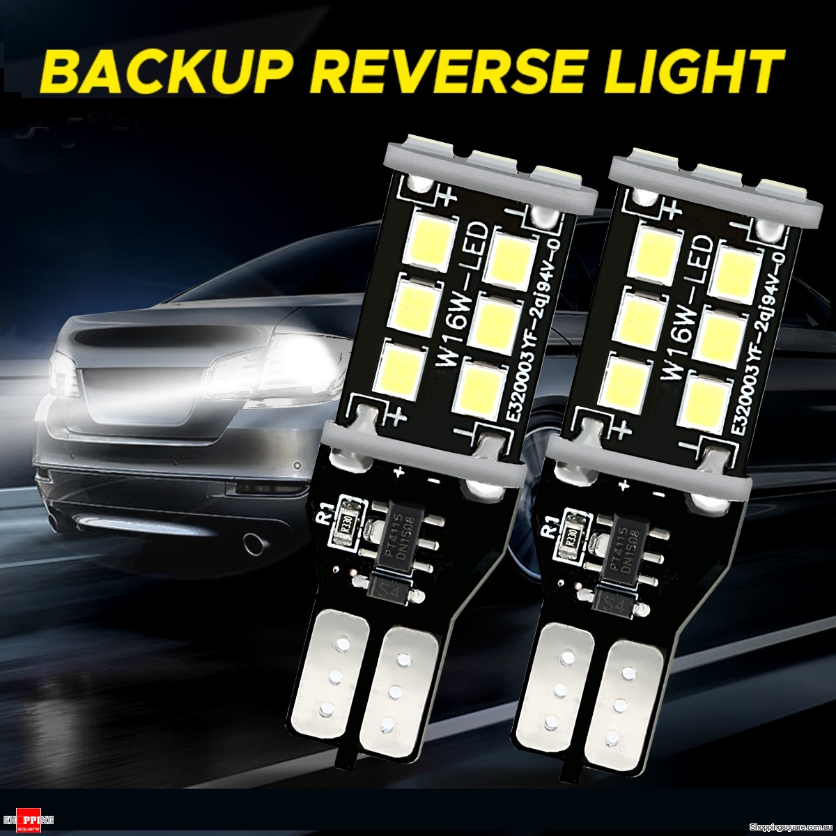 2Pcs Car LED Backup Reverse Lights 1200LM Bulbs 906 W16W  Error Free 7.2W 6000K White
