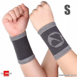 Bamboo Charcoal fiber Wrist Support Sports Wrist Sleeve Brace Pad - S