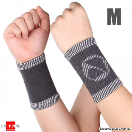 Bamboo Charcoal fiber Wrist Support Sports Wrist Sleeve Brace Pad - M