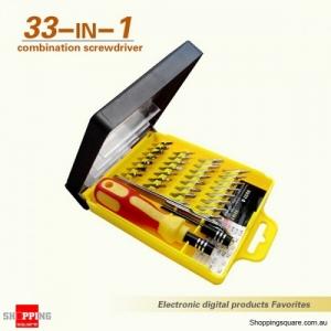 33-in-1 Portable Magnetic Precision Screwdriver Kit non-slip handle Repair tools Set