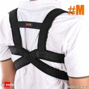 Adjustable Sports Waist Brace Support Strap Wrap Belt Corrector Band Pad Ergonomic design - M