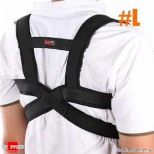Adjustable Sports Waist Brace Support Strap Wrap Belt Corrector Band Pad Ergonomic design - L