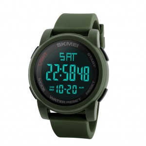 SKMEI 1257 Men Multifunctional 50m Waterproof Sports Digital Watch with Dual Time Zone - Green