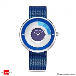Waterproof Stainless Steel Man Sports Quartz Watch - White & Blue