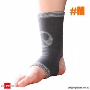 Classic Bamboo Ankle Pad Sports Fitness Protective Gear Ankle Sleeve Brace - M