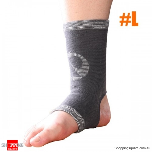 Classic Bamboo Ankle Pad Sports Fitness Protective Gear Ankle Sleeve Brace - L