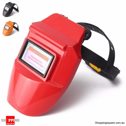 Solar Auto Darkening Welding Helmet Mask Arc Tig Mig Mask Grinding Welder Mask - Orange