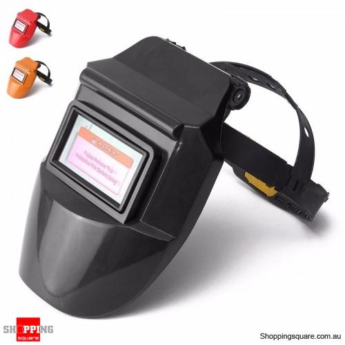 Solar Auto Darkening Welding Helmet Mask Arc Tig Mig Mask Grinding Welder Mask - Black