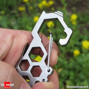 Multifunctions Buckle Tool D-shaped Steel Carabiner Hook Rooler Outdooors Survival tool