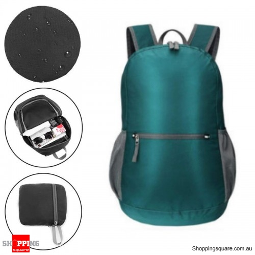 18L 200g Backpack Foldable Outdoor Folding Bag Weight Zip Waterproof Pack For Travel Camping - Green