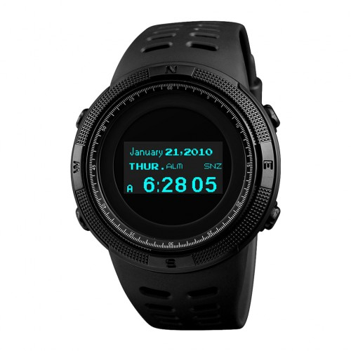 SKMEI 1360 Multifunctional Backlit Men's Digital Sports Watch Black Colour