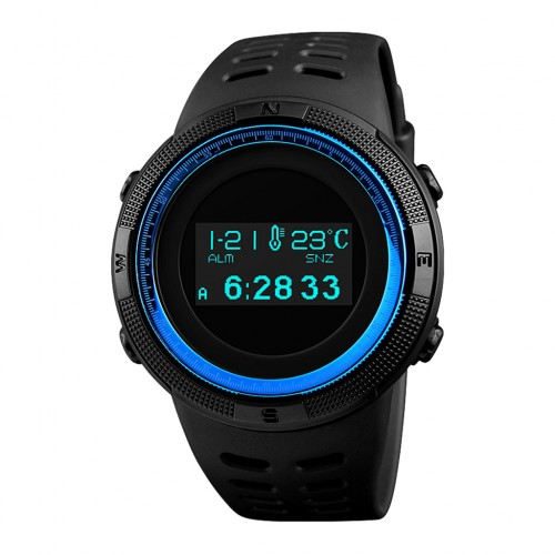 SKMEI 1360 Multifunctional Backlit Men's Digital Sports Watch Blue Colour