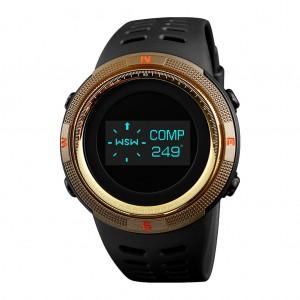 SKMEI 1360 Multifunctional Backlit Men's Digital Sports Watch Gold Colour