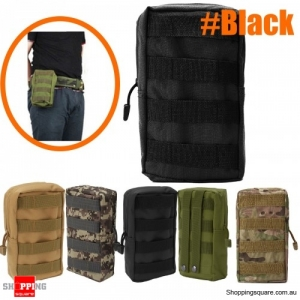 Outdoor Sport Tactical Large Capacity Storage Bag Phone Pouch  first aid kit bag - Black