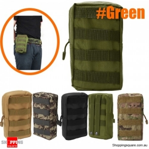 Outdoor Sport Tactical Large Capacity Storage Bag Phone Pouch  first aid kit bag - Green