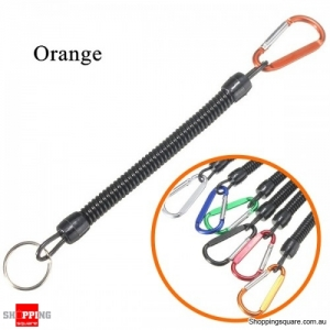 Multi-purpose Fishing Lanyards Boating Fishing Ropes Clipper Secure Pliers Lip Grips Tackle Fish Tools - Orange