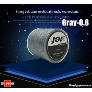 300M PE Abrasion Resistance High Sensibility Super Strong Fishing Line Braided 4 Strands - Gray- 0.8