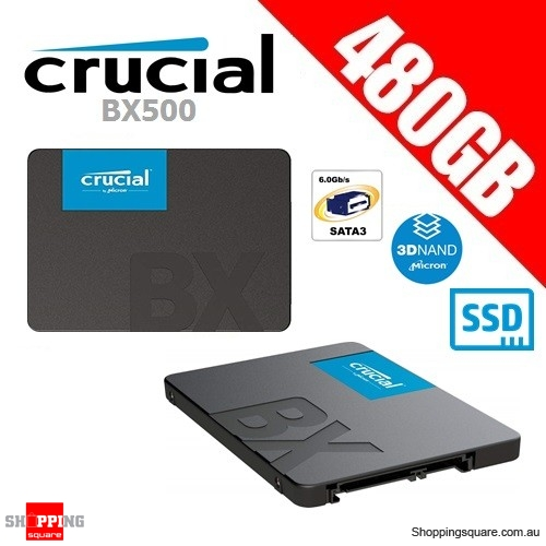 "Crucial BX500 480GB 3D NAND SATA 2.5"" SSD Solid State Drive"