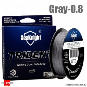 500M 4 Strands PE Braided Fishing Line Super Strong Floating Fishing Rod Wire - Gray -0.8