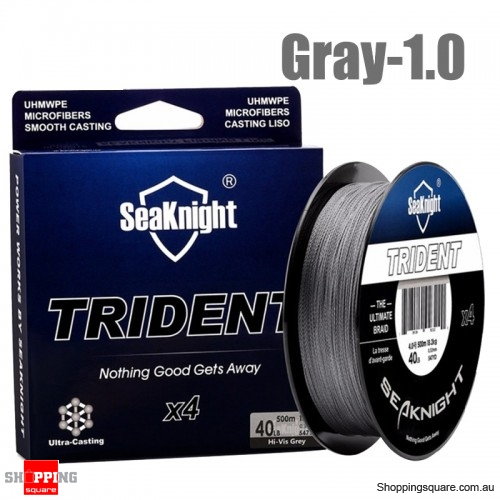500M 4 Strands PE Braided Fishing Line Super Strong Floating Fishing Rod Wire - Gray -1.0