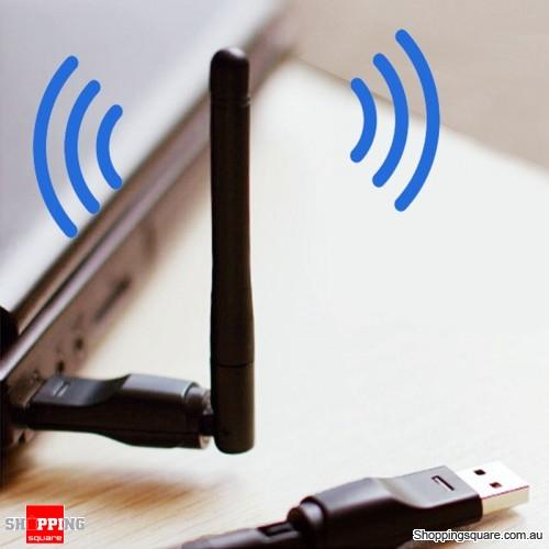 Portable 2.4G WiFi USB Wireless LAN Adapter Transmitter With Antenna for Mac Windows